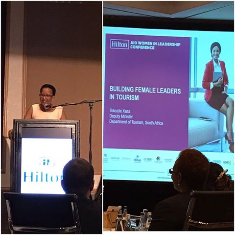 Deputy Minister of Tourism, Tokozile Xasa, on the occasion of the Hilton Africa and Indian Ocean Women in Leadersh