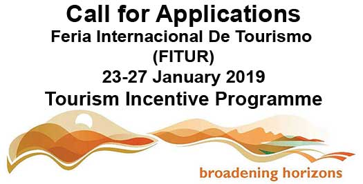 Call for Applications - FITUR 2019
