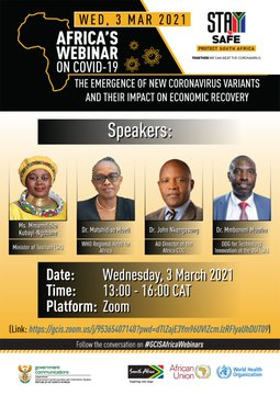 Remarks by the Minister of Tourism, Mmamoloko Kubayi-Ngubane, at The Africa Webinar, online