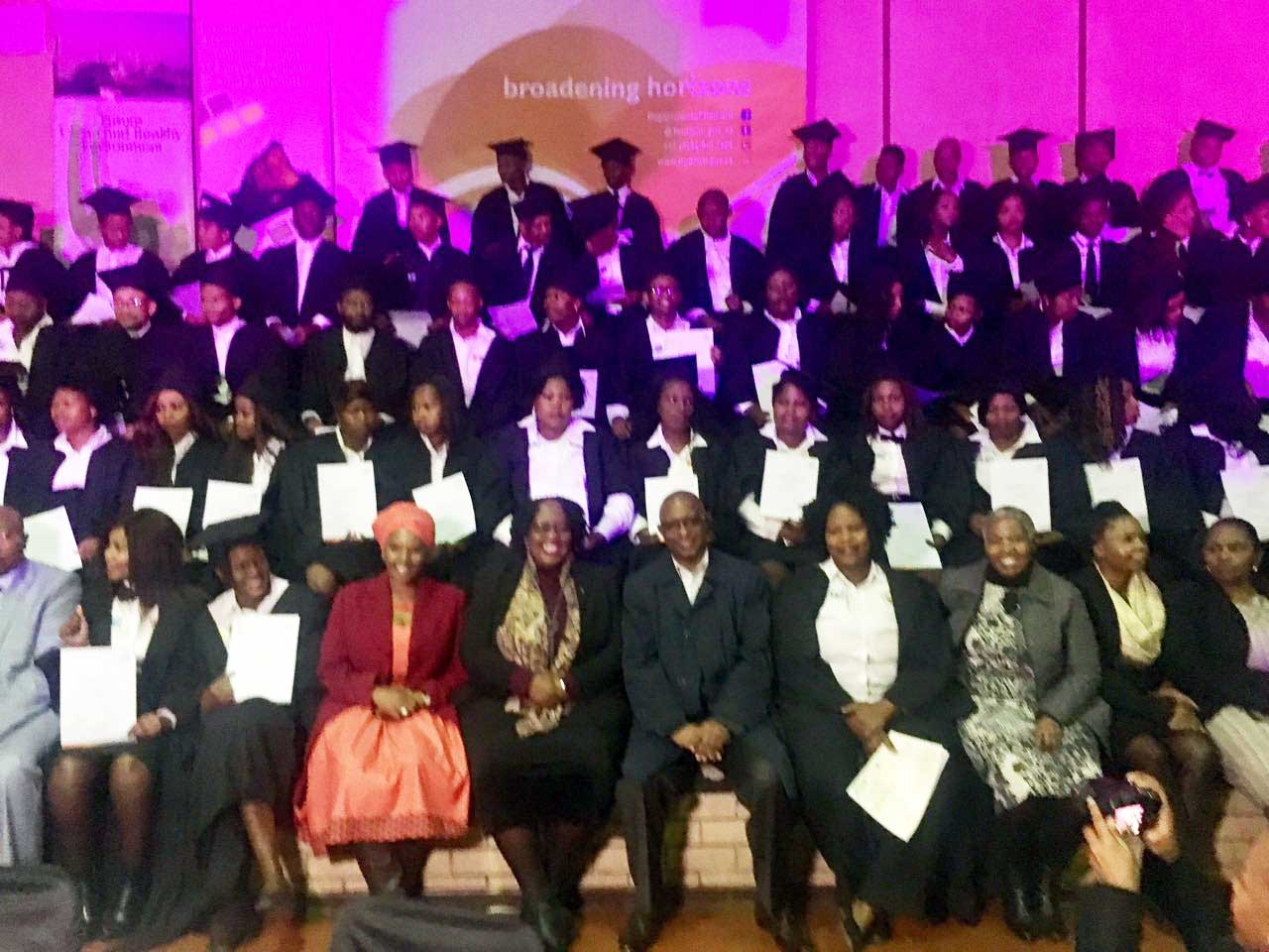 Deputy Minister Thabethe congratulates Tourism Buddies Graduates in the Free State